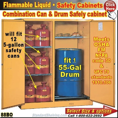 88BO / Combination Safety Drum Cabinet