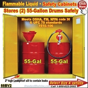 Flammable Safety Drum Cabinets