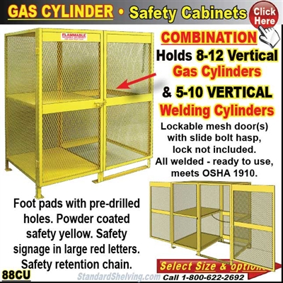 COMBINATION Gas-Cylinder Cabinet