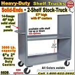 88DB / 2-Shelf SOLID-ENDS Stock Transport Truck