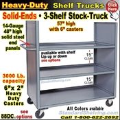 88DC / 3-Shelf SOLID-ENDS Stock Transport Truck