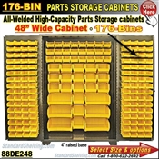 88DE248 / 176-Bin Heavy-Duty Storage Cabinet