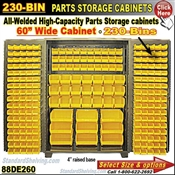 88DE260 / 230-Bin Heavy-Duty Storage Cabinet