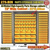 88DE272 / 276-Bin Heavy-Duty Storage Cabinet