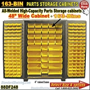 88DF248 / 163-Bin Heavy-Duty Storage Cabinet