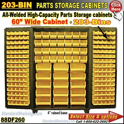 88DF260 / 203-Bin Heavy-Duty Storage Cabinet