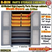 88DH236 / 8-Bin Heavy-Duty Storage Cabinet