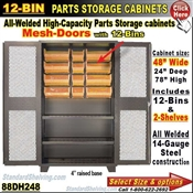 88DH248 / 12-Bin Heavy-Duty Storage Cabinet