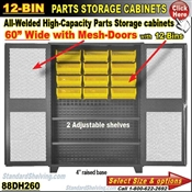 88DH260 / 12-Bin Heavy-Duty Storage Cabinet