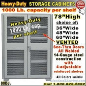 88DJ / Mesh-Door Heavy-Duty Storage Cabinets