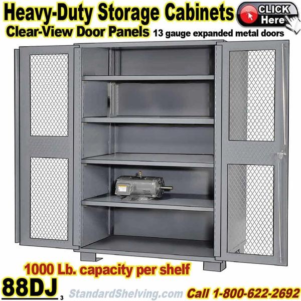 Mesh-Door Heavy-Duty Steel Storage Cabinets