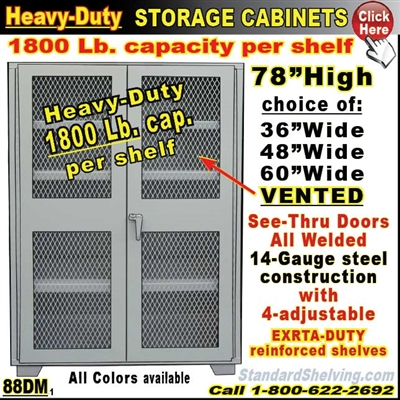 88DM / Mesh-Door Heavy-Duty Storage Cabinets