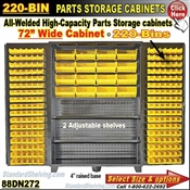 88DN272 / 220-Bin Heavy-Duty Storage Cabinet