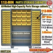 88DT236 / 112-Bin Heavy-Duty Storage Cabinet