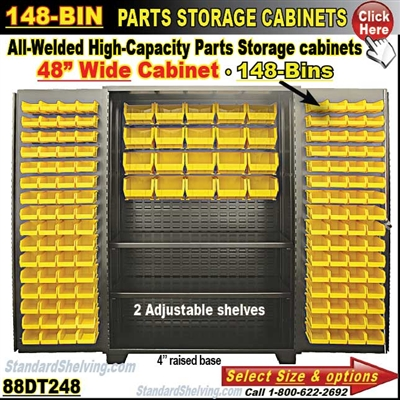 88DT248 / 148-Bin Heavy-Duty Storage Cabinet
