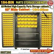 88DT260 / 184-Bin Heavy-Duty Storage Cabinet