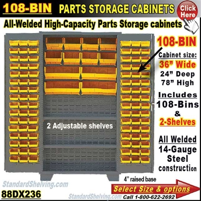 88DX236 / 108-Bin Heavy-Duty Storage Cabinet