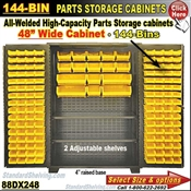 88DX248 / 144-Bin Heavy-Duty Storage Cabinet