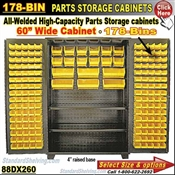88DX260 / 178-Bin Heavy-Duty Storage Cabinet