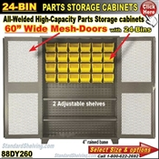 88DY260 / 24-Bin Heavy-Duty Storage Cabinet