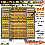 88DZ236 / 132-Bin Heavy-Duty Storage Cabinet