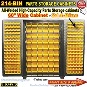 88DZ260 / 214-Bin Heavy-Duty Storage Cabinet
