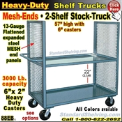 88EB / 2-Shelf MESH-ENDS Stock Transport Truck