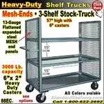 88EC / 3-Shelf MESH-ENDS Stock Transport Truck