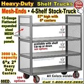 88ED / 4-Shelf MESH-ENDS Stock Transport Truck