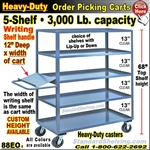 88EO / 5-Shelf Order Picking Truck with writing shelf
