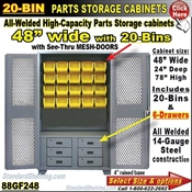 88GF248 / 20-Bin Heavy-Duty Storage Cabinet