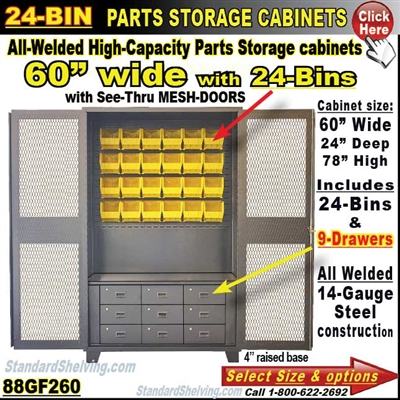88GF260 / 24-Bin Heavy-Duty Storage Cabinet