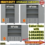 88HG / Heavy-Duty Storage Cabinets with Drawers