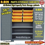 88HH236 / 8-Bin Heavy-Duty Storage Cabinet