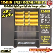 88HH248 / 12-Bin Heavy-Duty Storage Cabinet
