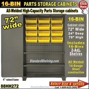 88HH272 / 16-Bin Heavy-Duty Storage Cabinet