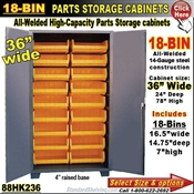 88HK236 / 18-Bin Heavy-Duty Storage Cabinet
