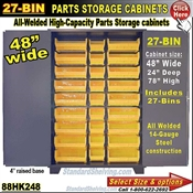 88HK248 / 27-Bin Heavy-Duty Storage Cabinet