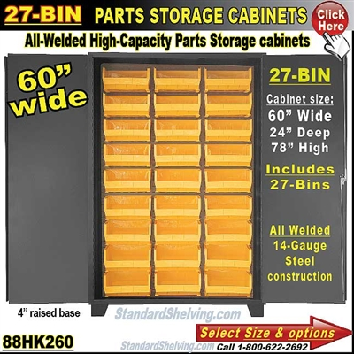 88HK260 / 27-Bin Heavy-Duty Storage Cabinet