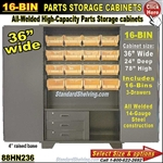 88HN236 / 16-Bin Heavy-Duty Storage Cabinet