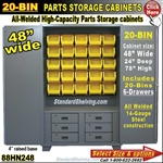 88HN248 / 20-Bin Heavy-Duty Storage Cabinet