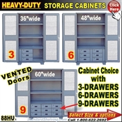 88HU / Heavy-Duty See-Thru Storage Cabinets