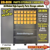 88HY272 / 28-Bin Heavy-Duty Storage Cabinet