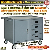88JF / 4-Drawer Repair & Maintenance Carts