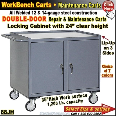 88JH / 2-Door Cabinet Repair & Maintenance Carts