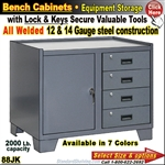 "88JK / Heavy-Duty 36""Wide Bench Storage Cabinet"