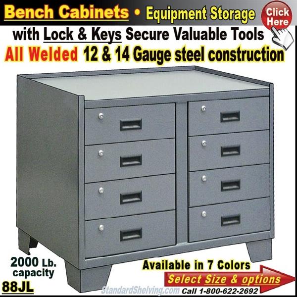 88jl Heavy Duty 36 Wide 8 Drawer Bench Storage Cabinet