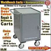88JM / 1-Drawer Cabinet Narrow Maintenance Carts