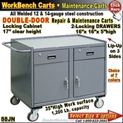 88JN / 2-Drawer Cabinet Repair & Maintenance Carts