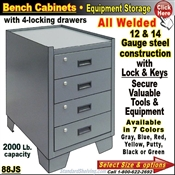 88JS / Heavy-Duty Bench Storage Cabinet